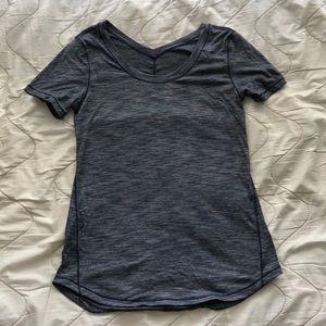 Navy blue lululemon shirt